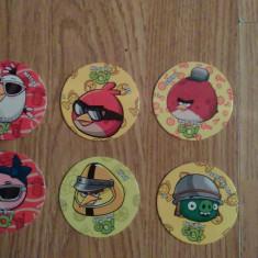 Angry Birds GO-set de 21 jetoane diferite, 19 simple si 2 speciale