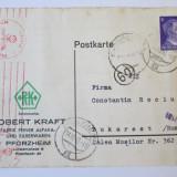 C.P. 1943 EXPEDIATA DIN GERMANIA IN ROMANIA CENZURI NAZISTE, Circulata, Printata, Romania 1900 - 1950