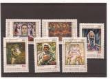 Bulgaria 1972 serie stampilata - picturi Vl. Dimitrov - 110 ani, MHN 2151-56