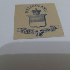 Heligoland 1875 val.nestampilata de 1 1/2P-10Pf