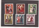 Bulgaria serie stampilata 1968 - costume, MHN