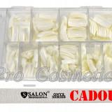 Tipsuri unghii false 500 tipsuri albe french white + BONUS Pila unghii 2 fete - Ustensile