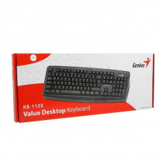 Tastatura GENIUS model: KB110X layout: US Negru USB, Cu fir