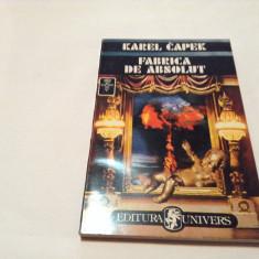 Karel Capek- FABRICA DE ABSOLUT ,RF1/1,RF9/1