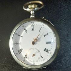 Ceas de buzunar de argint diametru mare - Ceas de buzunar vechi