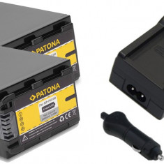1 PATONA | Incarcator + 2 Acumulatori compatibili Sony NP-FH100 NP-FH70 NP-FH50 - Incarcator Aparat Foto