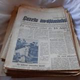 GAZETA INVATAMANTULUI ZIAR COLECTIE 1956 19 BUCATI