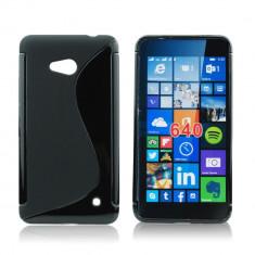 Husa Microsoft Lumia 640 Nokia TPU S-LINE Black - Husa Telefon Nokia, Negru, Gel TPU, Fara snur, Carcasa