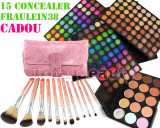 Trusa Farduri 180 culori Fraulein38 Rainbow + 12 Pensule + CADOU 15 Corector