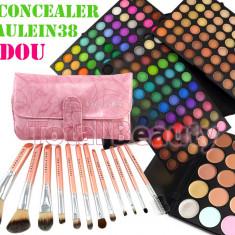 Trusa Farduri 180 culori Fraulein38 Rainbow + 12 Pensule + CADOU 15 Corector - Trusa machiaj