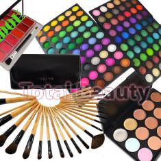 Trusa Machiaj 120 culori Fraulein38 Rainbow + 24 Pensule + Concealer + 6 Rujuri