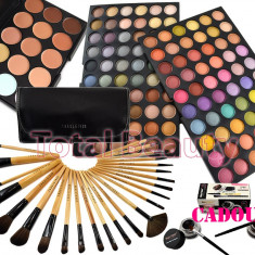 Trusa Machiaj 120 culori Fraulein38 Twist + 24 Pensule + 15 Corector + Eyeliner - Trusa make up