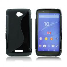 Husa SONY XPERIA E4 E2104 E2105 TPU S-LINE Black - Husa Telefon Sony, Negru, Gel TPU, Fara snur, Carcasa