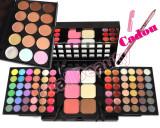 Trusa machiaj 78 culori cu ruj si blush Fraulein38 + Paleta 15 Concealer + CADOU