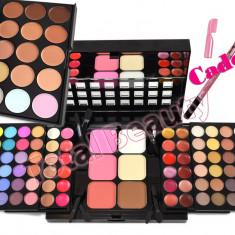 Trusa machiaj 78 culori cu ruj si blush Fraulein38 + Paleta 15 Concealer + CADOU - Trusa make up