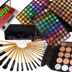 Trusa Machiaj 180 culori Fraulein38 Rainbow + 24 Pensule + Corector + Paleta Ruj