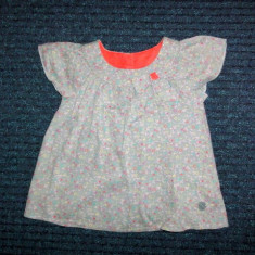 Bluzita cu funda gri-albastra, marca Ted Baker, fetite 18-24 luni, Culoare: Multicolor, Fete