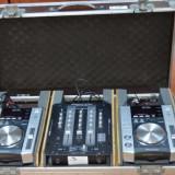 CONSOLA DJ - 2 x PIONEER CDJ 200 + 1 x American DJ Audio Q-D6