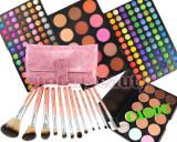 Trusa Machiaj profesionala 183 culori cu blush Fraulein + 12 Pensule + Concealer, Fraulein38