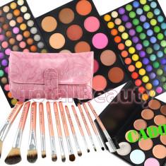 Trusa machiaj Fraulein38 profesionala 183 culori cu blush Fraulein + 12 Pensule + Concealer
