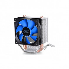 Cooler CPU DeepCool Iceedge Mini FS v2.0, Universal, ventilator 80mm, aluminiu, 2x heatpipe (Iceedge Mini FS v2.0) - Cooler PC