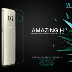 Geam Samsung Galaxy S6 Edge G925F Tempered Glass Spate Amazing H by Nillkin - Folie de protectie Samsung, Lucioasa