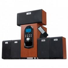 Boxe 5.1 Genius SW-HF5.1 6000, 5x20W + 1x100W, cherry wood, telecomanda (31730022101)