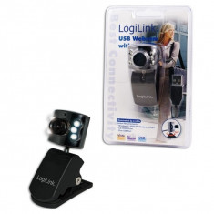 Camera Web LOGILINK 640x480, 6 LED (UA0072) - Webcam