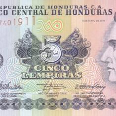 Bancnota Honduras 5 Lempiras 2010 - P91c UNC - bancnota america
