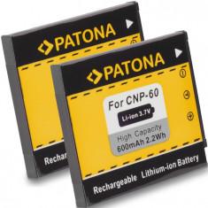 PATONA   2 Acumulatori pt Casio NP-60 NP60 Exilim EX-Z22 EX-Z25 EX-Z29