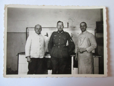 RARA! FOTO ORIGINALA SUBOFITER WEHRMACHT 1940 foto