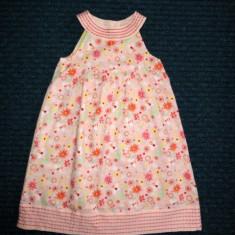 Rochita roz cu flori super de vara, marca John Rocha/ Debenhams, fetite 5 ani, Culoare: Multicolor