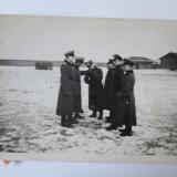 RARA! FOTO ORIGINALA OFITERI WEHRMACHT PE FRONT ANII 40 - Fotografie veche
