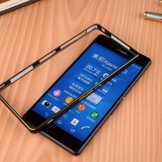 Bumper Rama Aluminiu Sony Xperia Z3 - Bumper Telefon, Argintiu