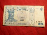 Bancnota 5 Lei 2006 Moldova , cal. medie