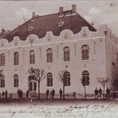 Ok-1380- Romania, Maramaros Sziget, Sighetu M. c.p. circulata 1903: Scoala Fete - Carte Postala Maramures pana la 1904, Fotografie, Sighetu Marmatiei