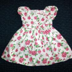 Rochita alba cu trandafiri, marca Tots, fetite 18-23 luni, Culoare: Multicolor