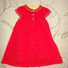 Rochita rosie vesela, marca Skyprout, fetite 2-3 ani, Culoare: Rosu