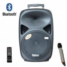 SISTEM BOXA ACTIVA CU MIXER SI MP3 INCLUS,MICROFON WIRELESS ,TELECOMANDA.