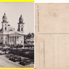 Satu Mare - Catedrala si piata - Carte Postala Maramures 1904-1918