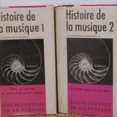 HISTOIRE DE LA MUSIQUE (2 VOL )- BIBLIOTHEQUE DE LA PLEIADE, ED. GALLIMARD - Carte de lux