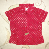 Camasa rosie cu cirese, marca Gymboree, fetite 4 ani