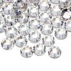 Strasuri din sticla 100 bucati, Argintii 2 mm pt decoratiuni unghii
