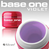 Gel uv Polonia Silcare Base One Violet 3 in 1, 5 ml, pt unghii false, monofazic - Gel unghii