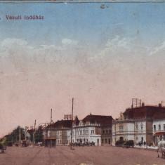 Ok-1391- Romania, Oradea, c.p. circ. 1916: Scena din zona feroviara, animat, Circulata, Fotografie