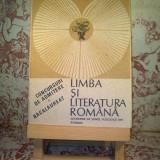 Limba si literatura romana concursuri de admitere Bacalaureat 1991