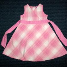 Rochita de vara roz in carouri, marca Adams, fete 3 ani/ 98 cm