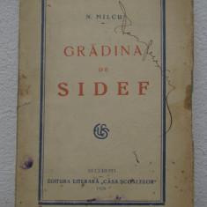 N.MILCU -GRADINA DE SIDEF, CU SEMNATURA LUI PERPESSICIUS
