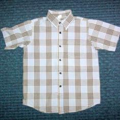 Camasa de vara albastra in carouri mici, marca Adams, baieti 6 ani/ 116 cm