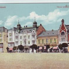 Romania, Szatmar-N.emeti, Satu Mare, carte postala necirculata: Centrul, animat - Carte Postala Maramures 1904-1918, Fotografie